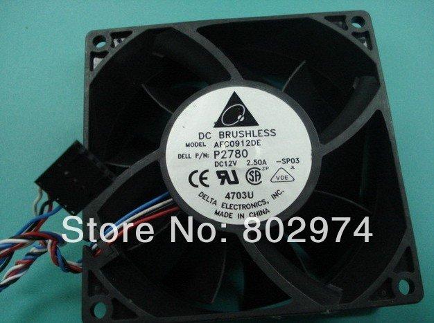 Delta 9238 AFC0912DE 12V 2.5A for Dell P2780 Dimension 4700 8400 GX280 MT Case Cooling Fan(China (Mainland))