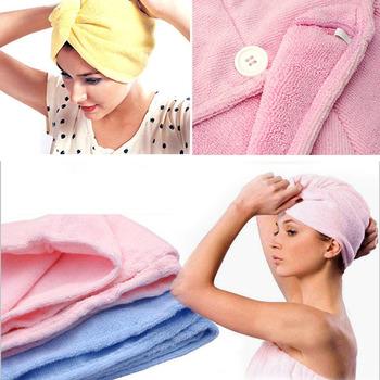5Pcs/lot Lady's Magic Hair Drying Towel/Hat/Cap Quick Dry Bath  #3479