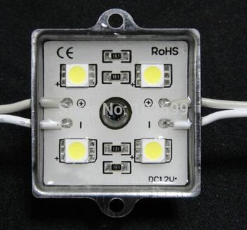 5050smd Super brightness IP65 pure white 5000-6000K  led Modules with 4LED
