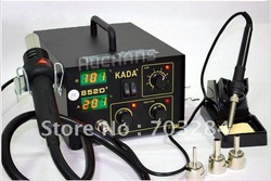 Free shipping 2 IN1 SMD SMT SOLDERING REWORK STATION welder HOT AIR & IRON KADA 852D+ 220V(China (Mainland))