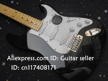 New guitar F  Stratocaster ST  made in usa 6 string black  Electric Guitar !! Free shipping
