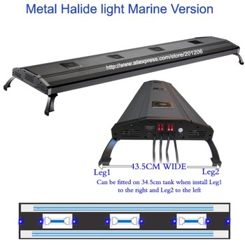 "ODYSSEA Aquarium Lighting/Fish tank Lamp 80"" Metal Halide HQI ADV+ T5 1070W /Mounting legs"