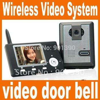 Wireless Video Intercom System,wireless color video door phone bell indoor monitor system
