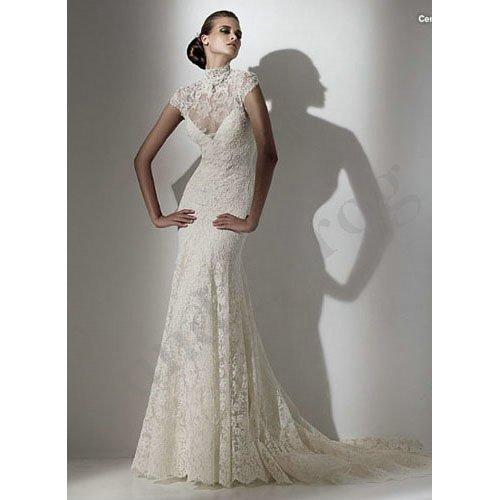 Turtleneck Wedding Dress