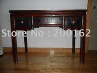Original antique Chinese Qing Dynasty primitive sandalwood yellow ormosia henryi writing table free shipping