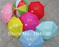 Mini  toys children craft umbrella decoration umbrella photography props long-handle style cartoon umbrella  EMS free shipping
