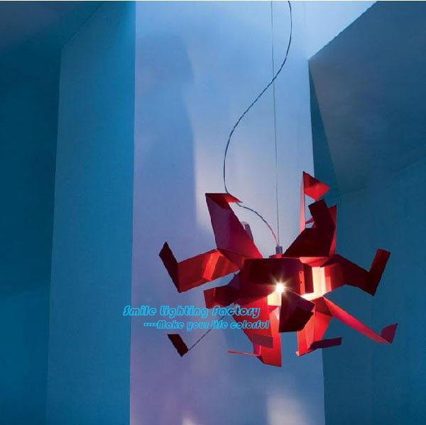 Free Shipping Hot Selling Italy Glow Paper Cranes Fashion Modern Pendant lamp,Designed By Garcia Jimenez Red(China (Mainland))