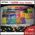 free shipping 33 colors(16500pcs) fused beads for hama perler beads DIY educational kits S500-33