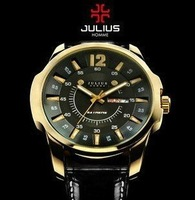 Men's Quartz Watch,Julius Round Fashion watch,with calendar,4 colors