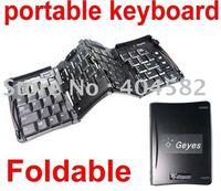 Geyes Foldable Stow-away Mini Keyboard USB Keyboard Folding Keyboard