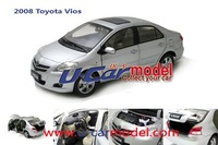 1pcs/lot 1:18 China  Toyota  VIOS 2008  die-cast car model (on sale) Silver