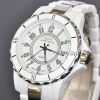 New OHSEN White 8 LED Light Analog Quartz Womens Ladies Wrist Band Sport Type Watch W053