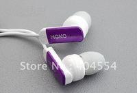 200pcs MOKO EA-Q1 Inner ear earphone good quality 6colors for mp3 mp4