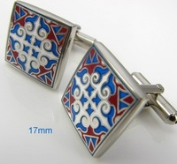 The Pattern of Egypt Square Metal Cufflinks Men's Shirt Cuff Jewelry