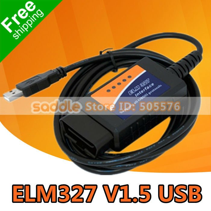 ELM327 USB , ELM327 V1.5 USB Diagnostic Scanner Auto Scanner OBD2 II Car Diagnostic Tool Auto Scan Tool FreeShipping!(China (Mainland))