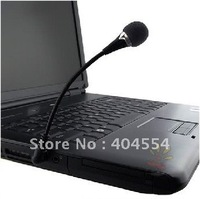 100pcs Black Protable Mini 3.5mm Audio Microphone Mic For PC Computer