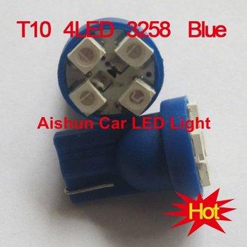 Car Bulbs width lamp backup lamp door lamp T10 194 168 192 W5W 3528 4smd 4 SMD LED t10 led light blue