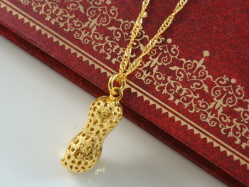 Wholesale Super deal New arrival fashion Jewelry vacuum plated 24K gold necklace pendent Super price !Free Shipping ZKB39
