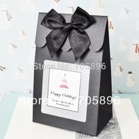 Free Shipping--50pcs matt Black Wedding Candy  Box/Bag,Shopper Box  (JCO-103)