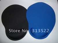 Free shipping by EMS 200pcs/lot Wholesale Wrist Comfort no smell Mice Pad Mat Mousepad with Wrist Rest for Optical Mouse