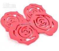 pad coaster 4Pcs Best sale in Brazil rose cup mat