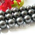Free shipping AAA 10mm black shell pearl strand(16inch,40cm) for making necklace/bracelet jewelry, 5pcs/lot