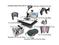 8 in 1 Combo Heat Press Machine,press machine,mug/cap/plate/T-shirt press machine,heat transfer machine,sublimation machine