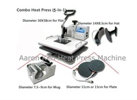 5 in 1 Combo Heat Press Machine,heat press,press machine,mug/cap/plate press machine,heat transfer machine,sublimation machine