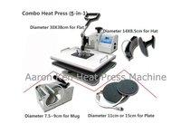 5 in 1 Combo Heat Press Machine,heat press,press machine,mug/cap/plate press machine,heat transfer machine,sublimation machine
