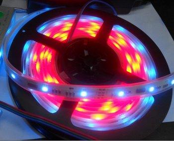 4m waterproof LED digital strip by tube (DC12V input),without controller,10pcs TM1809IC/m,30pcs 5050 RGB LED/m;DC12V input