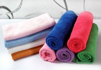 Free Ship 100PC 30cmx30cm Microfiber Cleaning Cloth Microfibre Towel Kitchen Towel Dust Rags