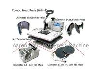 Combo Heat Press Machine 6 in 1,heat press machine,mug/cap/plate/T-shirt press machine,heat transfer machine,sublimation machine