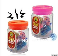 72pcs/lot New Funny Electric Shock Magic Tricky Candy Toy Jar Gadget For Prankster Free Shipping