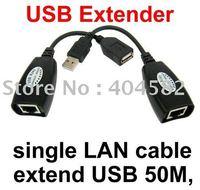 Hot!!! extend USB 50M,USB extender,single LAN cable USB Cat5 RJ45 Lan Ethernet Extender Repeater Extension