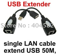 Hot!!! extend USB 50M,USB extender,single LAN cable USB Cat5 RJ45 Lan Ethernet Extender Repeater Extension