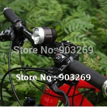 Mail Free + 1Set T6 Bike Light XMLT6 LED 1200 Lumens 3 Mode Waterproof Bicycle Light LED HeadLamp + 8.4v Battery Pack + Charger