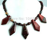 "New Fashion Rainbow Jasper stone Bead Pendant Necklaces Wholesale 18"""