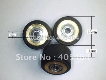 1pc 4X11X16mm  china cutting plotter wheel paper wheel press roller roland graphtec  vinyl cutter copper pinch roller