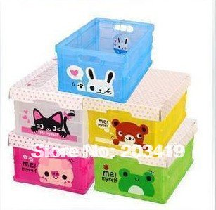 folding foldable storage collecting box Container Organizer Drawers frog bear cat rabbit wholesale(China (Mainland))