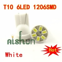 T10 464 55 Bright 6SMD 1206 SMD LED Wedge 194 T10 168 t10 led light white