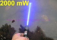 2000mw Tactical laser torch,focusable laser flashlights,light matches instantly,blue laser pointer,FREE goggles,FREE shipping