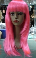 Fashion Pink long straight Halloween / Party / Cosplay Wigs 10pcs/lot mix order