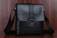 Free shipping Fashionable Men Leather Black Satchel Messenger Shoulder Bags school  1004