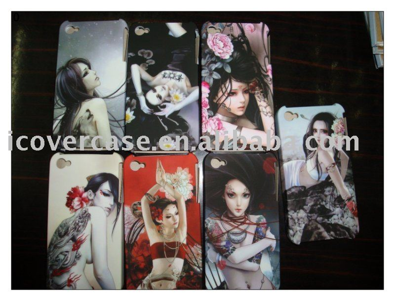 50pcs/lot dream girl hard mobile phone case/cell phone over/mobile case for iPhone 4 + free shipping(China (Mainland))