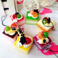 24Pcs Simulation Food Model Cake Squishy Phone Charm/Free Shipping