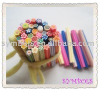 Free Shipping 5MM Diameter 100pcs-Mixed Flower Cane Fancy Nail Art  Polymer Clay Mixed Flower Series
