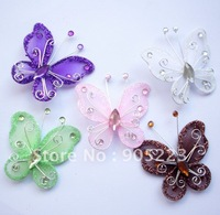 Free shipping Wedding Decoration 5cm 100pc Stocking Butterfly new wholesale /retail