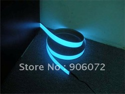 Blue EL Tape 1000mm*15mm Neon Glowing Strobing Electroluminescent Belt EL Tape, with Battery Box Control Adapter(for 2*AA)(China (Mainland))