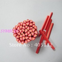 a-13 Free Shipping 100pcs 5mm Strawberry Shape Fruit Cane Fancy Nail Art  Polymer Clay Cane