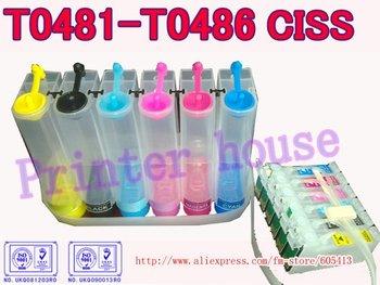 CISS for EPSON Stylus Photo R200,R220,R300,R300M,R320,R340,RX500,RX600,RX620 T0481 T0482 T0483 T0484 T0485 T0486 ciss system